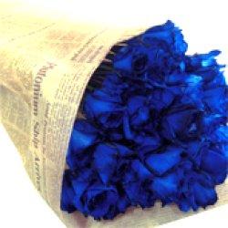 画像5: 【キラキラ☆ラメ仕様】人気の青バラ【ブルーローズ】50本キラキラ花束17500円