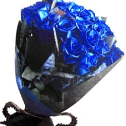 画像2: 【キラキラ☆ラメ仕様】人気の青バラ【ブルーローズ】30本キラキラ花束11400円