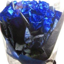 画像2: 【キラキラ☆ラメ仕様】人気の青バラ【ブルーローズ】20本キラキラ花束8600円