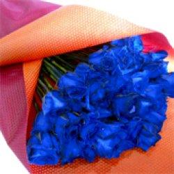 画像4: 【キラキラ☆ラメ仕様】人気の青バラ【ブルーローズ】50本キラキラ花束17500円