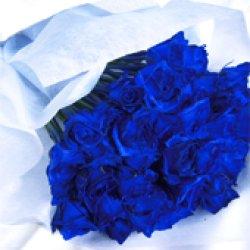 画像3: 【キラキラ☆ラメ仕様】人気の青バラ【ブルーローズ】50本キラキラ花束17500円