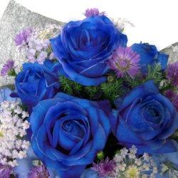 画像2: ブルーローズ&季節のお花アレンジメント